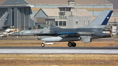 736 - General Dynamics F-16AM Fighting Falcon - Chile - Air Force
