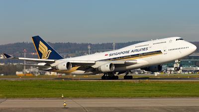 9V-SMR - Boeing 747-412 - Singapore Airlines