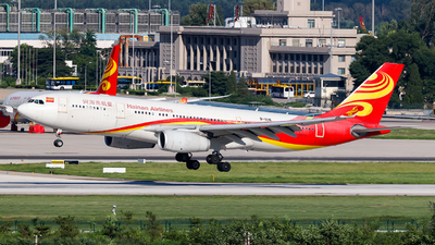 A picture of B6116 - Airbus A330243 - Hainan Airlines - © clear to land rwy36L