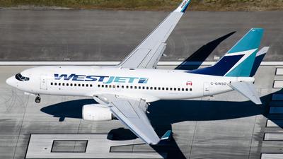 C-GWSO - Boeing 737-7CT - WestJet Airlines