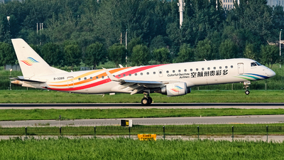 A picture of B3285 - Embraer E190LR - Colorful GuiZhou Airlines - © MingyaoLeonardo