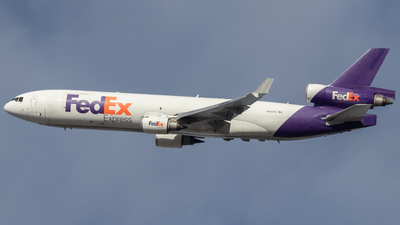 A picture of N595FE - McDonnell Douglas MD11F - FedEx - © Jacob Sharp - MkeAviation