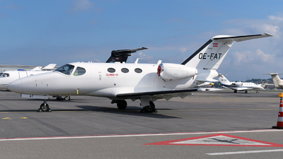 A picture of OEFAT - Cessna 510 Citation Mustang - GlobeAir - © Paul Denton