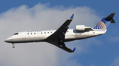 A picture of N445AW - Mitsubishi CRJ200LR - United Airlines - © DJ Reed - OPShots Photo Team