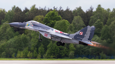 56 - Mikoyan-Gurevich MiG-29 Fulcrum - Poland - Air Force