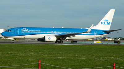 A picture of PHBCL - Boeing 7378K2 - KLM - © a.m.