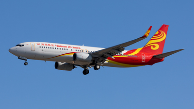 A picture of B5625 - Boeing 73784P - Hainan Airlines - © Sweet Potato