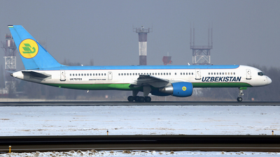 A picture of UK75703 - Boeing 757231 - Uzbekistan Airways - © Frolov Sergey