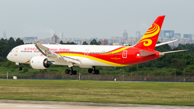 A picture of B1341 - Boeing 7879 Dreamliner - Hainan Airlines - © JunPeng