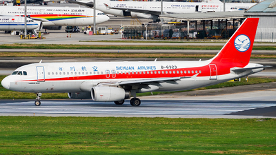 A picture of B6323 - Airbus A320232 - Sichuan Airlines - © Miaomiao
