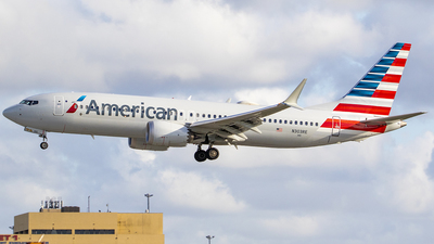 A picture of N303RE - Boeing 737 MAX 8 - American Airlines - © Nelson Mejia