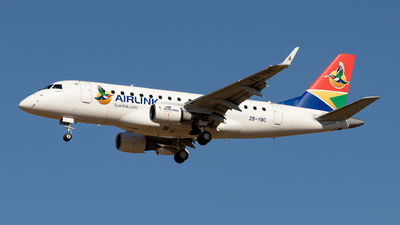 ZS-YBC - Embraer 170-100LR - Airlink