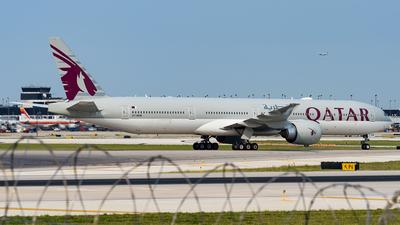 A picture of A7BEM - Boeing 7773DZ(ER) - Qatar Airways - © Haocheng Fang