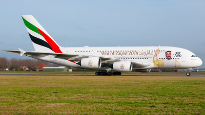 A6-EUV - Airbus A380-842 - Emirates