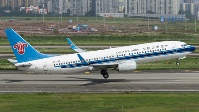 A picture of B1737 - Boeing 73781B - China Southern Airlines - © SunnyZUUU