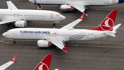 A picture of TCLCR - Boeing 737 MAX 8 - Turkish Airlines - © xuxinyi1000