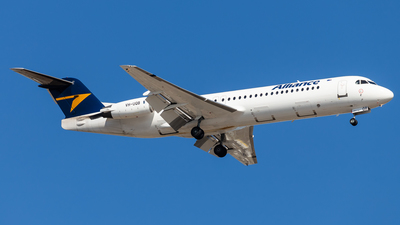 A picture of VHUQB - Fokker 100 - Alliance Airlines - © Brandon Giacomin