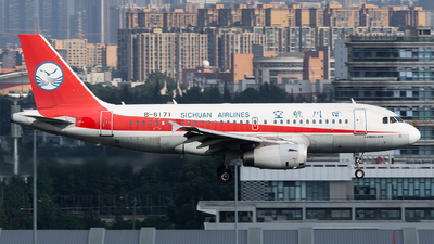 A picture of B6171 - Airbus A319133 - Sichuan Airlines - © Marcus Yu