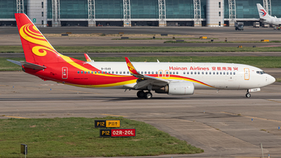 A picture of B1549 - Boeing 73784P - Hainan Airlines - © Leng Hao