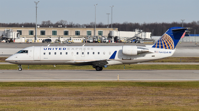 A picture of N410AW - Mitsubishi CRJ200LR - United Airlines - © Brady Noble