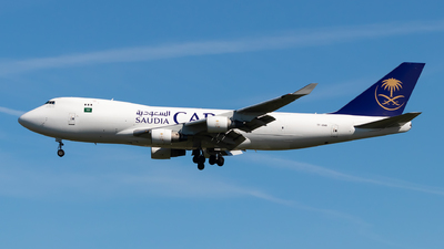 A picture of TFAMB - Boeing 747412F - Saudia - © Julian Azeroth