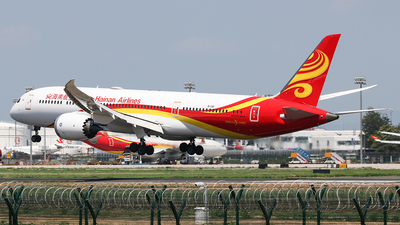 A picture of B1341 - Boeing 7879 Dreamliner - Hainan Airlines - © YangZhang