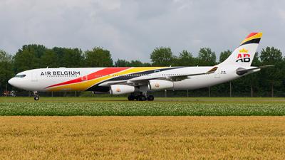 A picture of OOABA - Airbus A340313 - Air Belgium - © Gábor Kovács Dödi