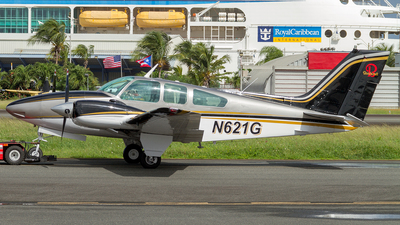 A picture of N621G - Beech 95C55 Baron - [TE214] - © Hector Rivera - Puerto Rico Spotter