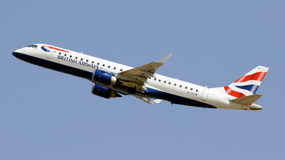A picture of GLCYW - Embraer E190SR - British Airways - © Javier Rodriguez - Amics de Son Sant Joan