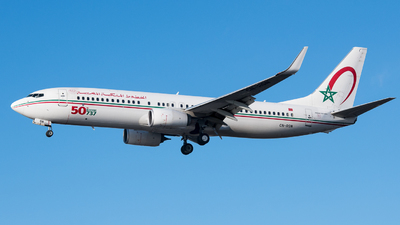 A picture of CNRGN - Boeing 7378B6 - Royal Air Maroc - © David W. Wilson