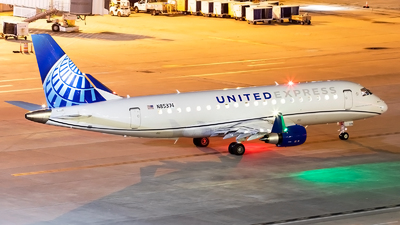 A picture of N85374 - Embraer E175LL - United Airlines - © Roger M