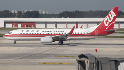 A picture of B7563 - Boeing 73789P - China United Airlines - © DS20020221