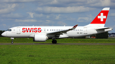 A picture of HBJBA - Airbus A220100 - Swiss - © R. Eikelenboom