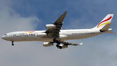 A picture of ECMQM - Airbus A340313 - Plus Ultra - © Buzu