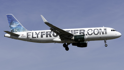 A picture of N220FR - Airbus A320214 - Frontier Airlines - © Kerrigan_Aviation_NJ