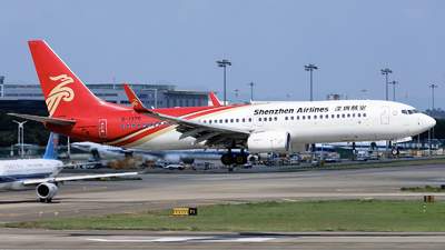 A picture of B1376 - Boeing 73787L - Shenzhen Airlines - © nibrage