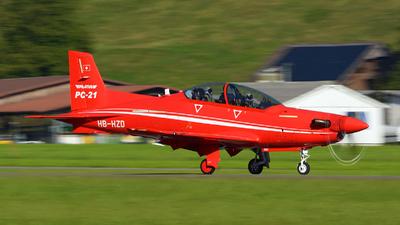 A picture of HBHZD - Pilatus PC21 Prototype - Pilatus Flugzeugwerke - © Jeremy Denton