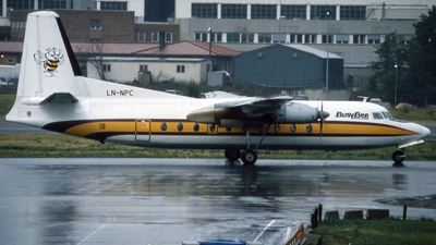 LN-NPC - Fokker F27-100 Friendship - Busy Bee