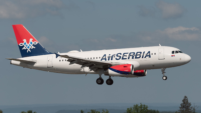 A picture of YUAPE - Airbus A319132 - AirSERBIA - © Philippe Ardin