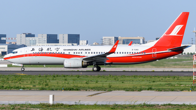 A picture of B5461 - Boeing 73786D - Shanghai Airlines - © Eric Xiao