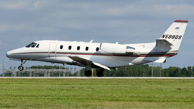 A picture of N588QS - Cessna 560XLS Citation Excel - NetJets - © DJ Reed - OPShots Photo Team