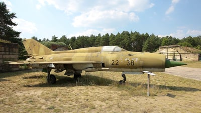22-38 - Mikoyan-Gurevich MiG-21SPS Fishbed F - Germany - Air Force
