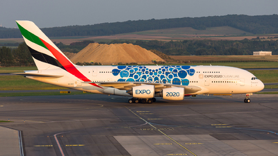 A picture of A6EOT - Airbus A380861 - Emirates - © Gábor Magyar
