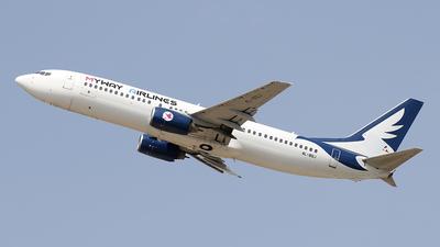 A picture of 4LBQJ - Boeing 7378AL - MyWay Airlines - © Siegi N.