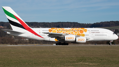 A picture of A6EOV - Airbus A380861 - Emirates - © Joel Basler