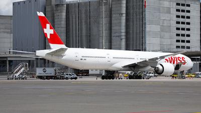 A picture of HBJNA - Boeing 7773DE(ER) - Swiss - © Goncalo Guimaraes