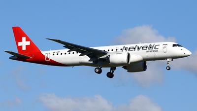 A picture of HBAZH - Embraer E190E2 - Helvetic Airways - © Javier Rodriguez - Amics de Son Sant Joan