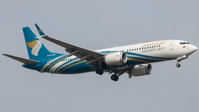 A picture of A4OMA - Boeing 737 MAX 8 - Oman Air - © Vedant Agarwal