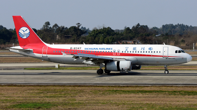 A picture of B6347 - Airbus A320232 - Sichuan Airlines - © F3E1988