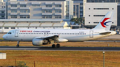A picture of B6757 - Airbus A320214 - China Eastern Airlines - © lihutao